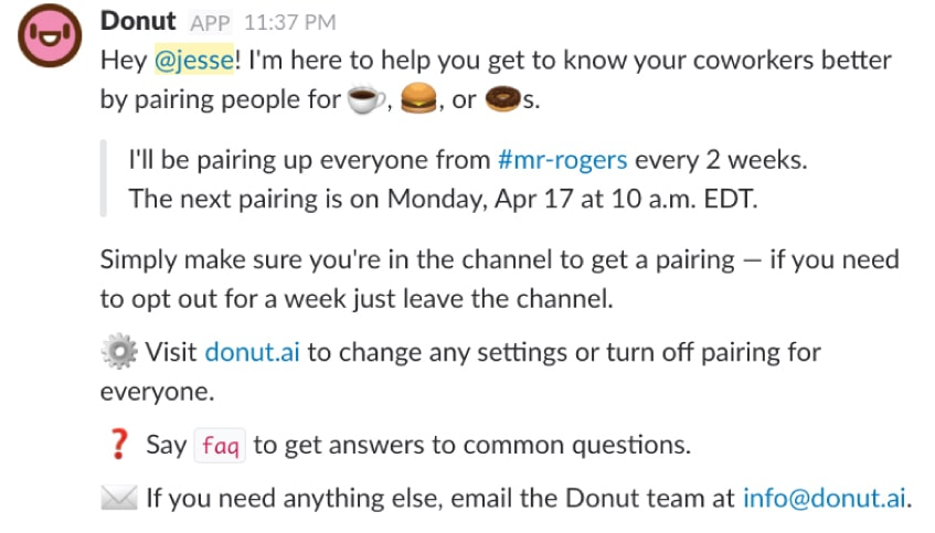 Donut calls are a fun way to connect remote workers