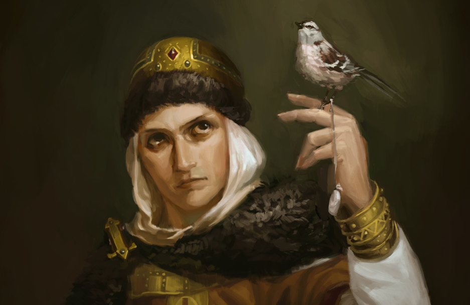Princess Olga uses birds to enact her revenge on the Drevlians.