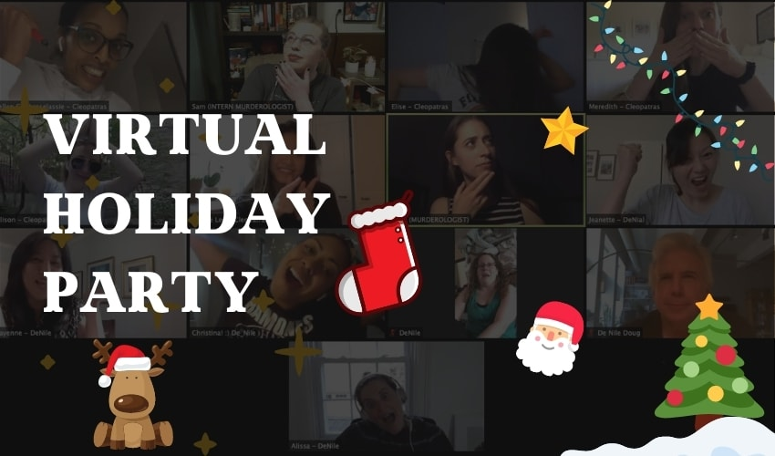 virtual holiday party banner